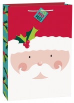 Holly Santa Jumbo Gift Bag